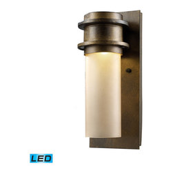 Elk Lighting - Elk Lighting Freeport 1-Light Outdoor Led Sconce in Hazelnut Bronze - 1-Light Outdoor Led Sconce in Hazelnut Bronze belongs to Freeport Collection by This Collection Provides Energy Savings With Transformer Free Led Technology. Made Of Durable Cast Aluminum Construction, This Series Is Offered In A Hazelnut Bronze Finish With Amber Glass Or Matte Black Finish With Frosted Glass. Sconce (1)