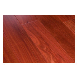 "Mazama - Mazama Hardwood - Smooth South American Collection - [25.8 sq ft/box] - Rosewood / Cumaru / Premiere / 3 3/4"" -    Known for its beautiful unique colors and almost unsurpassed hardness, the Mazama Hardwood - Smooth South American Collection has micro beveled edges and requires a nail down installation.     Natural Cumaru does get lighter when it is exposed to sunlight but its fine interlocking grain features keep its color. This interesting attribute paired with the flooring's stability gives it a very unique characteristic. It's precise milling, rich exotic colors along with its affordable pricing makes this high end collection hard to resist."