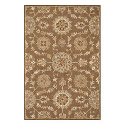 "Loloi Rugs - Loloi Rugs Ashford Collection - Light Brown / Multi, 3'-6"" x 5'-6"" - A classic beauty re-imagined for today, hand-tufted Ashford harnesses the timeless elegance of historically rich floral rug patterns, but updates them with an incredibly calming palette. The loop and pile texture adds depth and visual interest to these rugs, which are handmade in India of 100% wool."