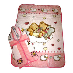 "Baby Mink Blanket and Baby Snuggle Set - 2 pcs, Pink - A great gift for all parents and babies! This is a great set, includes 1 Baby Blanket (43x55"") and 1 Baby snuggle/wrap (32x36"") for the baby. These blankets are carefully made with high quality material to provide warmth and comfort to the little one!"
