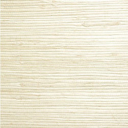 Shuang Cream Grasscloth Wallpaper - A clean hue, reminiscent of freshly cut hemlock, this natural grasscloth wallpaper is knotted and woven for an exotic texture on walls.