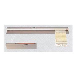 """Ex-Cell - NoteMinderT Check Order Rails - Set of 6 (18 in.) - Choose Size: 18 in.. Keep food orders neat and easily accessible in the kitchen with this durable check order rail, constructed of aluminum in a clear anodized finish to protect it from heat. Available in your choice of sizes, the rail is a must-have to keep your restaurant's kitchen running smoothly and effectively. Set of 6. Heavy-duty aluminum with Satin Clear Anodized finish easily handles heat and heavy use. Deluxe ball bearing design ensures """"easy-in, easy-out"""" action. Screw mounted units include hardware. 70% Recycled steel used in manufacture and 100% post-consumer recyclable. Made in USA. 18 in. L x 1 in. W x 2.5 in. H. 24 in. L x 1 in. W x 2.5 in. H. 30 in. L x 1 in. W x 2.5 in. H. 36 in. L x 1 in. W x 2.5 in. H. 48 in. L x 1 in. W x 2.5 in. H. 60 in. L x 1 in. W x 2.5 in. H. 72 in. L x 1 in. W x 2.5 in. H"""