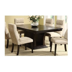 Homelegance - Avery Dining Table - Chairs sold separately. 18 in. extension leaf. Stores conveniently under the table top when not in use. Flared open base. Made from ash veneers. Rich espresso finish. Minimum: 60 in. L x 42 in. W x 30 in. H. Minimum: 78 in. L x 42 in. W x 30 in. HThe Avery Collection will add comfort and style to your home dining experience. Dine in style and comfort with the Avery Collection.
