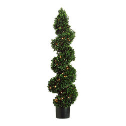 Silk Plants Direct - Silk Plants Direct Pine Spiral Topiary (Pack of 2) - Silk Plants Direct specializes in manufacturing, design and supply of the most life-like, premium quality artificial plants, trees, flowers, arrangements, topiaries and containers for home, office and commercial use. Our Pine Spiral Topiary includes the following: