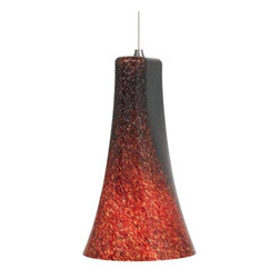 LBL Lighting - LBL Lighting Indulgent Red 75W 1 Light Down Light Pendant - LBL Lighting Indulgent Red 75W 1 Light Down Light PendantFeaturing swirled Red frit accents, this stunning bell shaped pendant will enhance the beauty of any decor. The included 75 watt medium base incandescent bulb provides ample lighting for any locale.LBL Lighting Indulgent Red 75W Features: