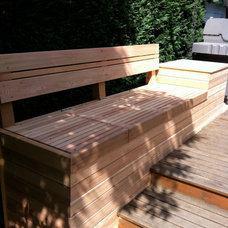 Outdoor Stools And Benches by Cedarcraft construction LLC