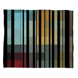 DENY Designs - Madart Inc Black Stripes In The Maze 2 Fleece Throw Blanket - This DENY fleece throw blanket may be the softest blanket ever! And we're not being overly dramatic here. In addition to being incredibly snuggly with it's plush fleece material, it's maching washable with no image fading. Plus, it comes in three different sizes: 80x60 (big enough for two), 60x50 (the fan favorite) and the 40x30. With all of these great features, we've found the perfect fleece blanket and an original gift! Full color front with white back. Custom printed in the USA for every order.