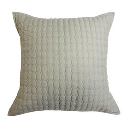 Cottage Home - Cottage Home Urkin Quilted Grey Decorative Pillow - This beautifully constructed quilted pillow can be placed in any living area and bed room for maximum comfort and style. This quilted pillow features beautiful matelasse pattern and reverses to a solid grey back side with ties.