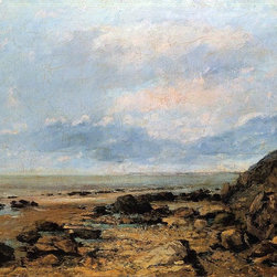 """Gustave Courbet Rocky Seashore - 16"""" x 20"""" Premium Archival Print - 16"""" x 20"""" Gustave Courbet Rocky Seashore premium archival print reproduced to meet museum quality standards. Our museum quality archival prints are produced using high-precision print technology for a more accurate reproduction printed on high quality, heavyweight matte presentation paper with fade-resistant, archival inks. Our progressive business model allows us to offer works of art to you at the best wholesale pricing, significantly less than art gallery prices, affordable to all. This line of artwork is produced with extra white border space (if you choose to have it framed, for your framer to work with to frame properly or utilize a larger mat and/or frame).  We present a comprehensive collection of exceptional art reproductions byGustave Courbet."""