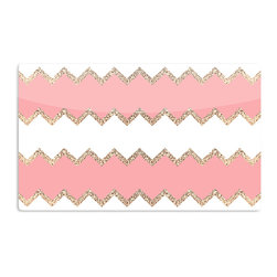 "Kess InHouse - Monika Strigel ""Avalon Coral Chevron"" White Blush Aluminum Magnet - Decorate your fridge, locker or cubicle at work with small aesthetic pops of color. Made of a durable aluminum, these premium magnets are hand pressed and measure 3"" x 2"". Great for holding up to do lists, photos or coupons, these small pieces of art can make your fridge your own personal gallery."