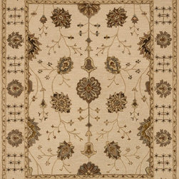 """Loloi Rugs - Loloi Rugs Walden Collection - Ivory / Ivory, 3'-6"""" x 5'-6"""" - Reimagine traditional styling with the sumptuously textured Walden Collection. These elegant, classic designs apply historic rug motifs in fresh, nuanced ways, creating timeless looks with modern appeal. Handcrafted in India in a cut-and-loop, high-low construction, each wool Walden design enjoys an airy, open pattern that is punctuated with texture and complemented with a palette perfect for today's lifestyles. If you thought you knew traditional, take a another look. Walden will surprise you.��"""