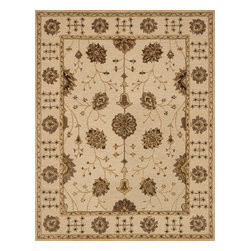 "Loloi Rugs - Loloi Rugs Walden Collection - Ivory / Ivory, 3'-6"" x 5'-6"" - Reimagine traditional styling with the sumptuously textured Walden Collection. These elegant, classic designs apply historic rug motifs in fresh, nuanced ways, creating timeless looks with modern appeal. Handcrafted in India in a cut-and-loop, high-low construction, each wool Walden design enjoys an airy, open pattern that is punctuated with texture and complemented with a palette perfect for today's lifestyles. If you thought you knew traditional, take a another look. Walden will surprise you.��"