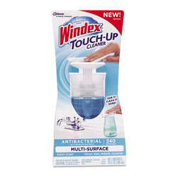 Windex - Windex Touch-Up Cleaner, 10 oz Bottle, Fresh Scent - Designed to be left out and readily at-hand for accessibility. Effectively cleans multiple surfaces throughout kitchen including high-value surfaces such as sealed granite, sealed marble, and exterior of appliances. Not only does it kill 99.9% of bacteria, it also offers a great fragrance for your kitchen and bathroom. Just Dab it. Clean it. Done.