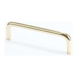 Berenson Decorative Hardware - Berenson Zurich Pull 4 in. c/c Polished Brass -