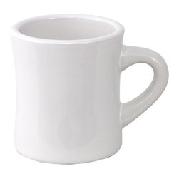 White Diner Mug - What could be better for a bistro coffee bar than good ol' diner mugs? I love their shape.
