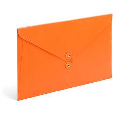 Modern Desk Accessories Soft Cover Folio, Orange