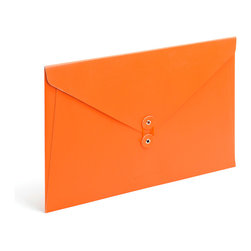 Poppin - Soft Cover Folio, Orange - Forget vanilla manila. In your choice of brilliant colors, each of these soft cover folios opens to reveal bright white inside and features a colorful coordinating string closure. Whether you're transporting multimillion-dollar contracts or clipped coupons, carry your papers in high style.