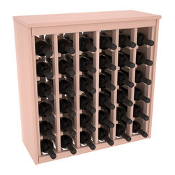 Wine Racks America - 36 Bottle Deluxe Wine Rack in Premium Redwood, White Wash Stain + Satin Finish - Great start or addition to wine rack furniture, this wooden wine rack is designed to look like a freestanding wine cabinet. Solid top and side enclosures promote the cool and dark storage area necessary for aging your wine properly. Your satisfaction and our racks are guaranteed.
