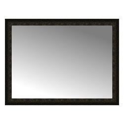 """Posters 2 Prints, LLC - 50"""" x 38"""" Mantilla Expresso Custom Framed Mirror - 50"""" x 38"""" Custom Framed Mirror made by Posters 2 Prints. Standard glass with unrivaled selection of crafted mirror frames.  Protected with category II safety backing to keep glass fragments together should the mirror be accidentally broken.  Safe arrival guaranteed.  Made in the United States of America"""