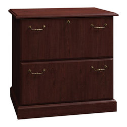 "BBF - Bush Syndicate 30""W 2-Drawer Lateral File in Harvest Cherry - Bush - Filing Cabinets - 6354ACS03 -"