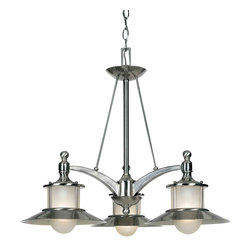 Quoizel Lighting - Quoizel NA5103BN New England Brushed Nickel 3 Light Chandelier - 3, 100W A19 Medium