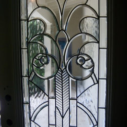 Exterior door iwith Stained Glass -