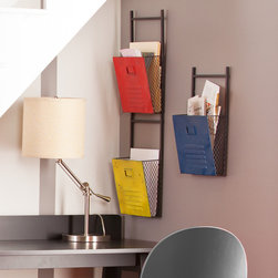 Holly & Martin - Holly & Martin Houtes Wall File Holders (Set of 3) - Place these brightly colored file holders in your office or use them to add a touch of color to the kitchen; they'll help you stay organized in style.