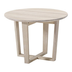 Skovby - Side Table - For a little modern flair in any setting, this solid beech side table makes the room go 'round. With an X-marks-the-spot base and smooth curves on top, it's equal parts sturdy and chic.