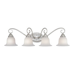 Vaxcel Lighting - Vaxcel Lighting PA-VLD004BN Picasso Traditional Vanity / Bathroom Light - This undulating, lyrical design features classical architectural elements and demure style.