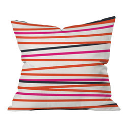 DENY Designs - Khristian A Howell Crew Stripe Warm Throw Pillow - Wanna transform a serious room into a fun, inviting space? Looking to complete a room full of solids with a unique print? Need to add a pop of color to your dull, lackluster space? Accomplish all of the above with one simple, yet powerful home accessory we like to call the DENY throw pillow collection! Custom printed in the USA for every order.