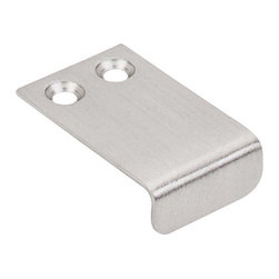 "Top Knobs - Tab Pull 1"" - Brushed Satin Nickel - Length - 1 1/2"",Width - 1"",Center to Center - 7/16"","
