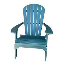 Phat Tommy - Deluxe Adirondack Chair in Green - Today, more than ever, people are finding their place of relaxation in their own backyard. Chairs stay beautiful year after year with no rotting, splitting or cracking.