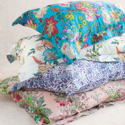 Pillow Shams, Standard Size,Various Prints - May flowers can make your bed burst with blooms.