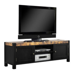 "Black 60 Inch TV Console - Upgrade your living space with this 60"" TV ..."
