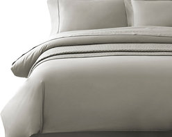 Luxor Linens - Delano Organic Duvet Cover, Queen, Gray - The Delano Organic Bedding by Luxor Linens is superbly crafted from Bamboo and organic cotton to a smooth heavenly finish. Renowned for its supreme softness Bamboo also acts as a natural antibacterial ensuring your bed is the ultimate sanctuary.