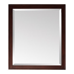 """Avanity - Madison Mirror in Light Espresso - The Madison Collection combines function with style. It is constructed of solid birch wood and veneer. Features: -Mirror. -Madison collection. -Light Espresso finish. -Frame construction: Solid birch wood. -Available in 24"""", 28"""" and 36"""" width sizes. -Wood cleat at back for easy hanging. -Can be hanged horizontal and vertical. Specifications: -24"""" Mirror dimension: 32""""H x 24""""W. -28"""" Mirror dimension: 32""""H x 28""""W. -36"""" Mirror dimension: 32""""H x 36""""W. -24W x 2.2D x 33H inches."""