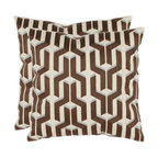 Safavieh Home Furniture - Dawson 18-Inch Khaki Decorative Pillows, Set of 2 - -Adorn your bed, sofa, or favorite reading chair with a refreshing geometric design from Safavieh. This eye-catching pillow will marry perfectly with your existing d�cor, adding lasting style for years to come.  - Please note this item has a 30-day manufacturer's limited warranty that covers product defects. Inspect your purchase upon delivery and notify us immediately with any concerns. Safavieh Home Furniture - PIL893B-1818-SET2