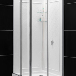 """Dreamline - Cornerview Framed Sliding Shower Enclosure, 36"""" x 36"""" Double Threshold Shower Ba - This kit combines a CORNERVIEW  shower enclosure with a coordinating SlimLine shower base. The CORNERVIEW shower enclosure is a perfect combination of solid construction and timeless design. The corner installation provides an effective solution to maximize space. A SlimLine shower base completes the transformation with a modern low profile design. DreamLine shower kits provide a complete solution to makeover a shower space."""