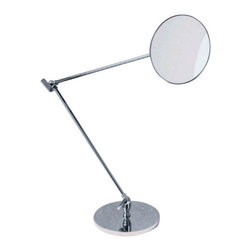 """Decor Walther - Decor Walther SPT 70 Cosmetic Mirror - The SPT 70 Cosmetic Mirror cosmetic mirror has been designed and made by Decor Walther.  The SPT 70 cosmetic mirror of Decor Walther provides to its metal  surface and the excellent processing an exclusive accessories in each  bathroom also represents the SPT is characterized by 70 of its great  flexibililty. The slender arms of the vanity mirror can be up to a  length of 80.5 cm off. Through the elaborated joint design can be the  round mirror so both in the horizontal as well as in the horizontal  position, precisely adjust. With a 5-flod magnification are also smaller  detail can be accurately resolved and detailed work on the make up and  other cosmetic work.  Product Details:  The SPT 70 Cosmetic Mirror cosmetic mirror has been designed and made by Decor Walther. The SPT 70 cosmetic mirror of Decor Walther provides to its metal surface and the excellent processing an exclusive accessories in each bathroom also represents the SPT is characterized by 70 of its great flexibililty. The slender arms of the vanity mirror can be up to a length of 80.5 cm off. Through the elaborated joint design can be the round mirror so both in the horizontal as well as in the horizontal position, precisely adjust. With a 5-flod magnification are also smaller detail can be accurately resolved and detailed work on the make up and other cosmetic work.  Details:                                      Manufacturer:                                      Decor Walther                                                                  Designer:                                     In House Design                                                                  Made in:                                     Germany                                                                  Dimensions:                                      Diameter: 5.31"""" (13.5 cm) X Depth: 31.69"""" (80.5 cm)                           Diameter Base: 6.69"""" (17 cm)              """