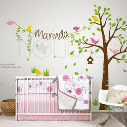 tree wall decal - https://www.etsy.com/listing/113599387/children-wall-decal-wall-sticker-birdie?ref=shop_home_active