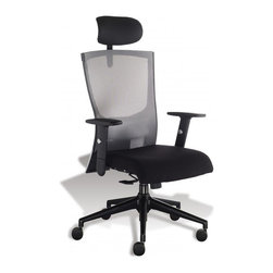 Jesper Office Furniture - Anna Office Chair in Sterling - Features: