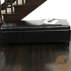 Christopher Knight Home - Christopher Knight Home York Bonded Leather Black Storage Ottoman Bench - This beautifully crafted Ottoman black leather storage bench is the perfect finishing touch to any home decor. Whether its used in a bedroom or living room, the elegance that this piece adds is undeniable, and the hidden storage space is very useful.