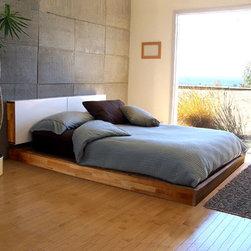 Mash Studios - LAX Series King Platform Bed with Headboard - LAX Series King Platform Bed with Headboard by MASHstudios