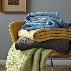 Bubbles Quilt + Shams - Bubbly, cloudlike formations create a textural skyscape on soft-washed cotton.