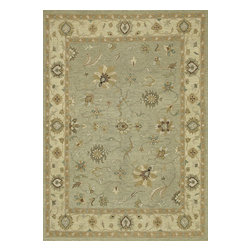 """Loloi Rugs - Hand Knotted Laurent Transitional Rug LRNTLE-05SGGV - 2'-0"""" x 3'-0"""" - Hand-knotted of 100% wool from India, the Laurent Collection features a series of soumak rugs that add a touch of casual elegance to traditional and transitional rooms alike. Available in a series of hand-dyed earthy colors."""