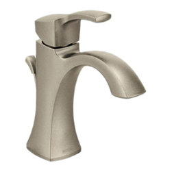 """Moen - Moen 6903BN Voss Series Single-Handle Lavatory Faucet (Brushed Nickel) - This high-arc lavatory faucet features a single lever handle for precise volume and temperature control, a metal drain assembly with lift rod, a 1/2"""" IPS connection, and an included optional deckplate for a finishing touch. This model is ADA compliant, and comes in a beautiful, Brushed Nickel finish."""