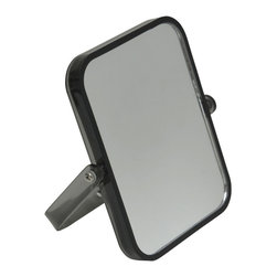 Magnifying Dual-Sided Pivot Mirror Rectangular Shape Grey - This magnifying dual-sided pivoting mirror features a colorful transparent plastic frame. This rectangular shape mirror rotates side to side providing versatile viewing. The 2X magnification side is ideal for makeup application, tweezing or other grooming tasks and the regular side is ideal for all-around hairstyling and cosmetics. Conveniently folds for travel and storage. Dimensions are length of 6.10-Inch, height of 7.48-Inch and diameter of 0.87-Inch. No assembly required. Clean with warm soapy water. Color grey. This magnifying pivoting mirror is perfect for use on any countertop or travels and is an ideal complement to virtually any bathroom decor! Complete your decoration with other products of the same collection. Imported.