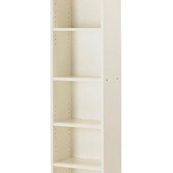 BILLY Bookcase - white - IKEA - For Elena's room ( one in the middle) for shelving on left wall shared with door