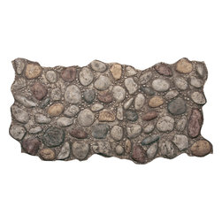 FauxPanels.com - River Rock Faux Stone Panels, Multicolor - Faux stone panels provide all the beauty of river rock without the high cost of hiring a stone mason. Made of strong polyurethane, they'll hold up to wear and tear, extremes in temperature, water and sunlight while maintaining their good looks for many years. They won't chip like real stone or crack or peel like other stone substitutes.