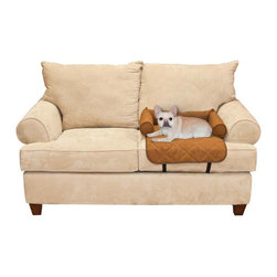 UTM Distributing Co - K&H Pet Products Bolstered Furniture Small Cover - Chocolate - 26 x 21 x 5 in. M - Shop for Chair and Slip Covers from Hayneedle.com! You can treat your pet like one of the family while keeping your furniture looking nice and new with the K&H Pet Products Bolstered Furniture Small Cover Chocolate 26 x 21 x 5 in. This soft quilted polyester cover protects your furniture from unsightly pet hair dirt and scratch marks while providing a soft and cozy spot for your pooch. Included bolsters encourage your pet to stay in place while adding a cozy touch. The attractive chocolate hue won't detract from your decor and it's machine washable for convenient cleaning.About K&H ManufacturingK&H Manufacturing LLC. is setting the standard for heated pet products. They offer heated products for your dogs cats wild birds exotic birds and for your ponds.Their products help make your pet more comfortable and active. The heated dog beds and heated cat beds can be used year round in the winter weather or the cool of the air conditioning. Every K&H bed or mat provides warmth to relax tired muscles and sooth the joints on aging and arthritic pets. Their dog and cat beds use dual thermostats that offer unparalleled consistency in temperature and safety.